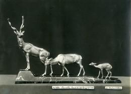 France Paris Art Deco Atelier Cadran Création De Irenée Rochard Famille Cerf Ancienne Photo 1930 - Objects