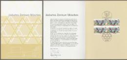 """Bund: Minister Card - Ministerkarte Mit VB Mi-Nr. 2594 ESST, """" Jüdisches Zentrum München """" Rar !    X - Storia Postale"""