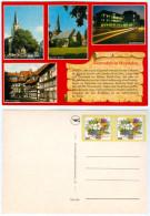AK Gütersloh In Westfalen Martin-Luther-Kirche Apostel Stadtbibliothek Alter Kirchplatz Deutschland Nordrhein-Westfalen - Gütersloh