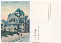 REPRO-AK Mülheim An Der Ruhr Synagoge Synagogue Synagog A.d.Judaika Judaica Judentum NRW Nordrhein-Westfalen Deutschland - Muelheim A. D. Ruhr