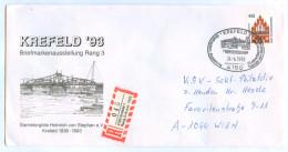 Kuvert Krefeld 1993 55 Jahre Sammlergilde Heinrich Von Stephan Krefelder Hafendrehbrücke Reko Einschreiben Deutschland - BRD
