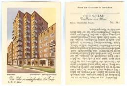Olleschau-Sammelbild Die Sehenswürdigkeiten Der Erde Düsseldorf Rheinparkhaus DD Preußen Nordrhein-Westfalen Deutschland - Zigaretten