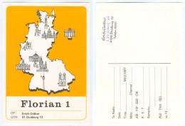QSL-Karte 4100 Duisburg Florian1 Löwenburg Deutschland-Landkarte Meiderich-Beeck Card Carte Cartolina Funkkarte Radio - Amateurfunk