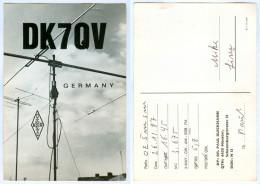 QSL-Karte 4400 Münster (Westfalen) Schaumburgstrasse DK7QV 1987 Antenne Radio Card Carte Cartolina Deutschland Funkkarte - Amateurfunk