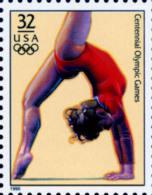 Sc#3068g 1996 USA Olympic Games Stamp-Women's Gymnastic Athletic - Gymnastics