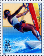 Sc#3068h 1996 USA Olympic Games Stamp-Women's Sail Boarding Athletic