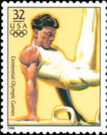 Sc#3068r 1996 USA Olympic Games Stamp-Gymnastics Athletic - Gymnastics