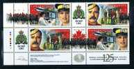 1998  RCMP Royal Canadian Mounted Police  125th Ann  Plate Block With Illustrated  Gutters Sc 1736-7 MNH - 1952-.... Elizabeth II