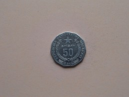 Malagasy 1992 - 50 Ariary - KM 20 ( Uncleaned Coin / For Grade, Please See Photo ) !! - Madagascar