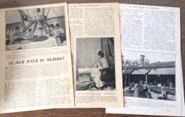 ANCIEN DOCUMENT 1903 LE JOUR TUEUR DE MICROBES SOLARIUM ETABLISSEMENTS DE VELDES M FINSEN - Alte Papiere