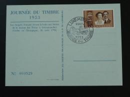 Carte Journée Du Timbre Luxembourg 1953 - Tarjetas Conmemorativas