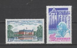 FRANCE / 1980 / Y&T N° 2111/2112 ** : Rambouillet & Solesme - Gomme D´origine Intacte - Frankreich