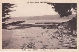 Cp , 22 , BINIC , La Plage Et L'Avant-Port - Binic