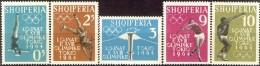 ALBANIA 1962, SPORT, OLYMPICS In TOKYO, COMPLETE, MNH SET, GOOD QUALITY, *** - Albania