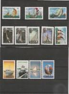 ANTIGUA  Bateaux Années 1986/88 N°Y/T : 908/11-959/62-1052/55- ** - Antigua Et Barbuda (1981-...)