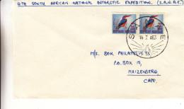 Afrique Du Sud - Lettre De 1963 - Oblit Sanae - Expédition Antarctique - Expédié Vers Muizenberg - Oiseaux - Pinguins - Afrique Du Sud (1961-...)