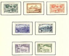 Schweiz 1914-31 Satz Gebirgslandschaften * Falz - Neufs