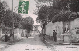 78- MAURECOURT - LA VIERGE , ET LA RUE DE PARIS - Maurecourt