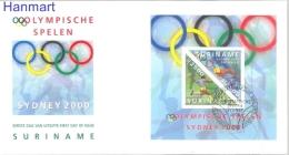 Surinam 2000 Mi Bl80 FDC- Summer Olympics 2000 Sydney - Ete 2000: Sydney