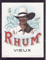 Etiquette, Rhum Vieux, Imprimerie M P Chevalier à Morlaix - Rhum