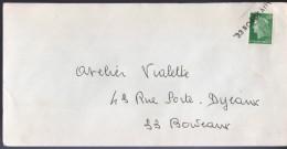 """Lettre Annulation à L´arrivée Avec Griffe """"33 Bordeaux"""" Sur Timbre 0,30 Vert Marianne De Cheffer - Variedades Y Curiosidades"""