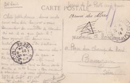 FM 1914 Taxe Annulée Biffée De Condamine Chatelard Basses Alpes Pour Bourgoin Isère Armée Des Alpes Sur Cpa - Guerre De 1914-18