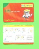 UGANDA - Chip Phonecard As Scan