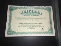 BELGOLEA Pétrolifere Et Miniere - Non Classés