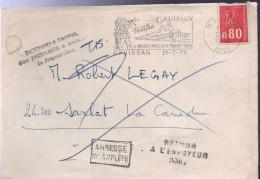 """Lettre 11 Gruissan 21-7 1975 Flamme =o Griffes Noires """"Adresse/incomplète"""" """"Retour/A L'envoyeur/330"""" """"inconnu A L'appel/ - Variedades Y Curiosidades"""