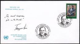 """UN Wien 1987, FDC Cover """"Trygve Lie"""" W./special Postmark """"Wien"""", Ref.bbzg - FDC"""