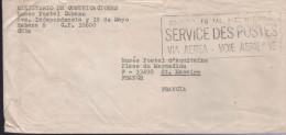 """Lettre Grande Griffe Noire """"Service Postal International / SERVICE DES POSTES / Via Aera - Voie Aérienne """" - Abarten Und Kuriositäten"""