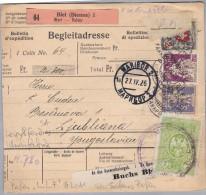 "Schweiz 1926-04-23 Biel-Bienne Perfin-Beleg ""L.L.F."" #L011 Sehr Seltenes Perfin - Suisse"