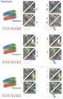 Surinam 2002 Mi Gut1805-1816b FDC- Parrots - Papagayos
