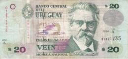 BILLETE DE URUGUAY DE 20 PESOS DEL AÑO 1994 (BANKNOTE) - Uruguay
