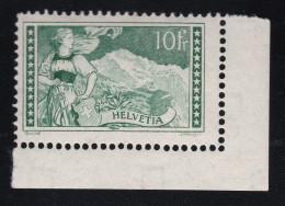 Schweiz 1930 10Fr. Jungfrau Zu#179 ** Postfrisch - Neufs