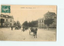 CORBEIL - Place SALVANDY Avec Beau Plan Animé  -  2 Scans - Corbeil Essonnes