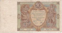 BILLETE DE POLONIA DE 50 ZLOTYCH DEL AÑO 1929 (BANKNOTE) - Pologne