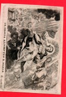 Santje Perkament Peachment Gravure Gloriosa Assumptio B.Maria Th. Van Merlen BRAECKMANS X BAESTEN +1/3/1814 Antwerpen - Obituary Notices