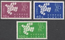 Cyprus. 1962 Europa. MH Complete Set. SG 206-208 - Cyprus (Republic)