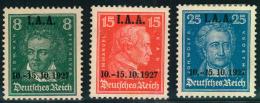 1927, I.A.A. Komplett, Sauber Ungebraucht (Mi-Nr. 407/409 - 65,00) - Ungebraucht