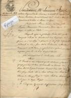 VP4645 - Empire - LAGNY - Acte Entre Melle SANTERRE & Mr DELAMARRE  Vente De Terres à VAIRES - Manuscrits