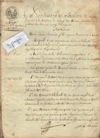 VP4646 - Empire -  LAGNY - Acte Entre Melle SANTERRE & Mr DELAMARRE  Vente De Terres à VAIRES - Manuscrits