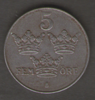 SWEDEN / SVEZIA - 5 ORE ( 1942 - WWII ) - Svezia