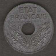 FRANCIA 20 CENTIMES 1942 ZINCO - Francia