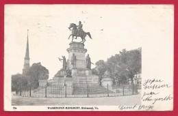 CPA États Unis - Post Card - Richmond - Washington Monument - Richmond