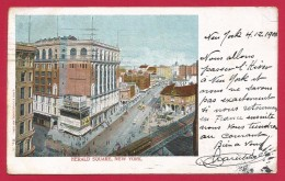 CPA États Unis - Post Card - New York - Herald Square - Places & Squares