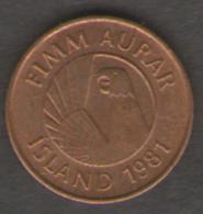 ISLANDA SERIE 3 MONETE 5 - 10 - 50 AURAR - Islanda