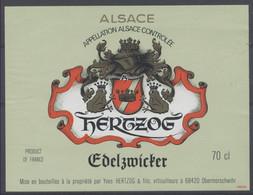 THEME ANIMAUX étiquette De Vin ALSACE EDELZWICKER / GRENOUILLE FROG FROSCH - Neuve - Frogs