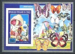 164 CONGO 1990 - Champignon Papillon Scout (Mi BF 46) Non Dentele Neuf ** (MNH) Sans Trace De Charniere - Mint/hinged