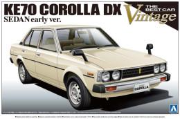 KE70 Corolla DX  Sedan Early Ver. 1/24 (  Aoshima ) - Cars